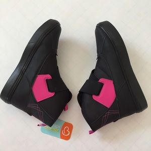 Girls Black light weight  warm snow ankle boots